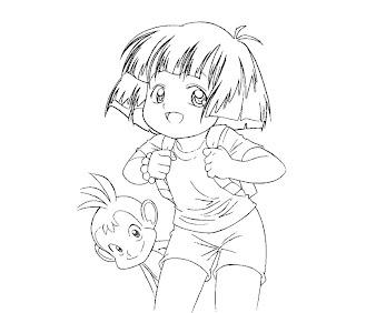 #5 Dora Coloring Page