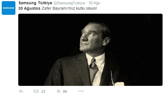 samsung-turkiye-zafer-bayrami-sosyal-medya-paylasimi