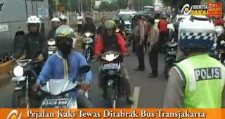 Bus Transjakarta Tabrak Wanita Pejalan Kaki