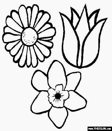 Flowers Coloring Book Jepsen December Free Sheet