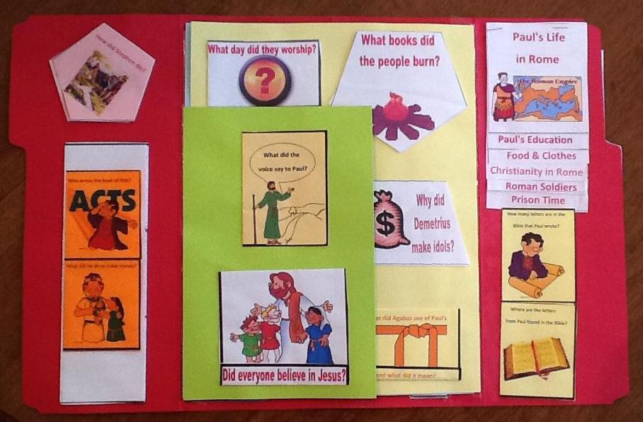 Bible Fun For Kids Life Of Paul Lapbook