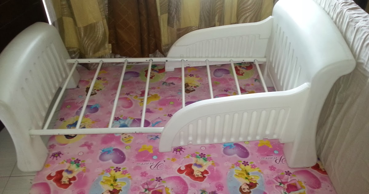 Cosco Toddler White Bed With Bedrails Sold