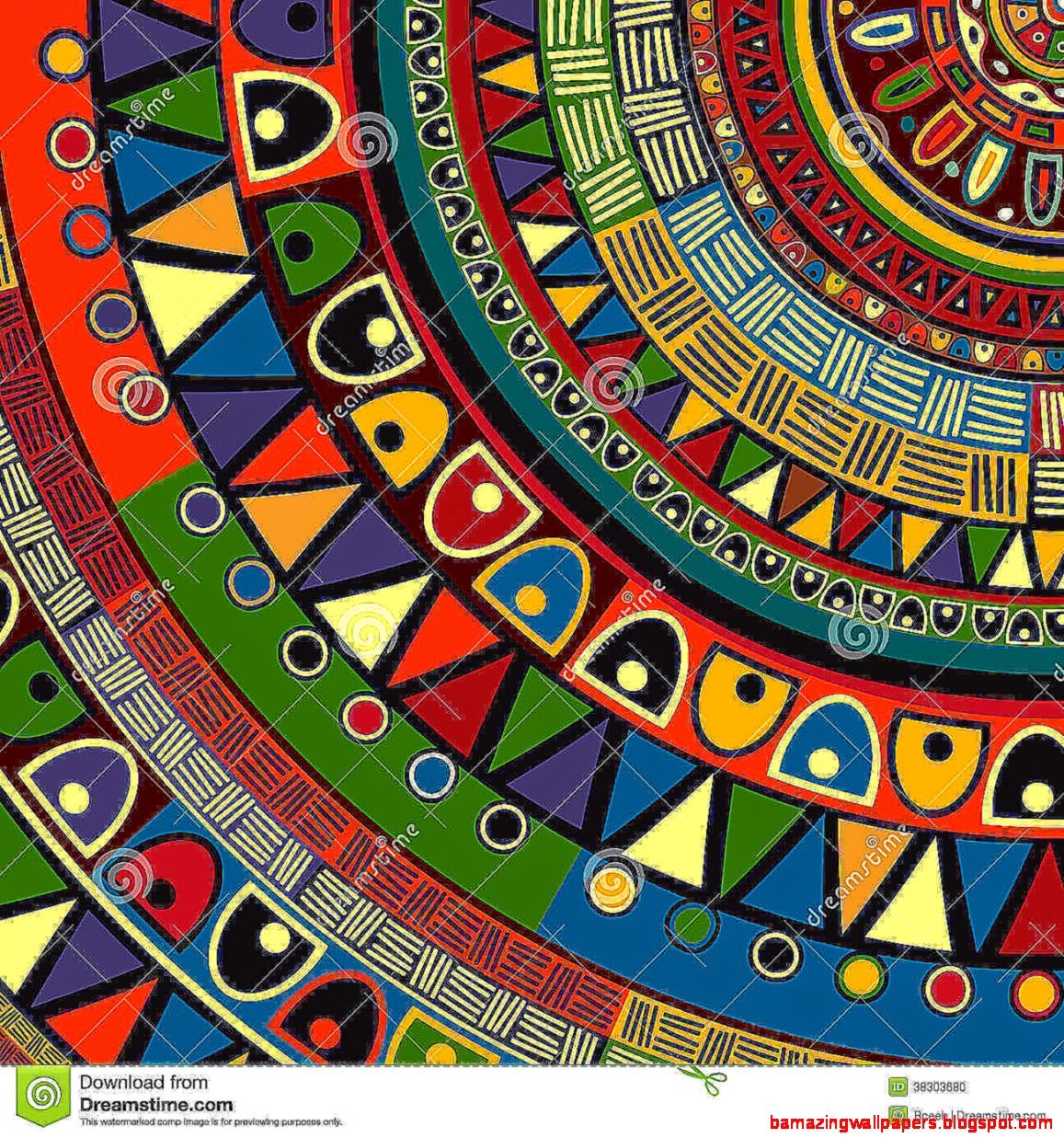 colorful tribal design wallpapers joy studio design