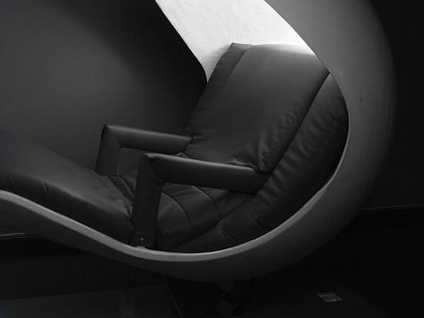 Sillón futurista para tomar una siesta y relajarse