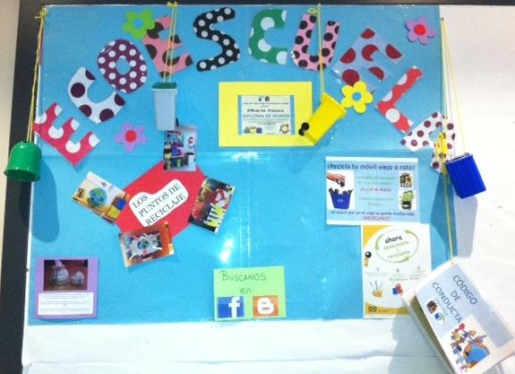 Ecoescuela trinity ecotabl n informativo for Carteleras escolares de reciclaje