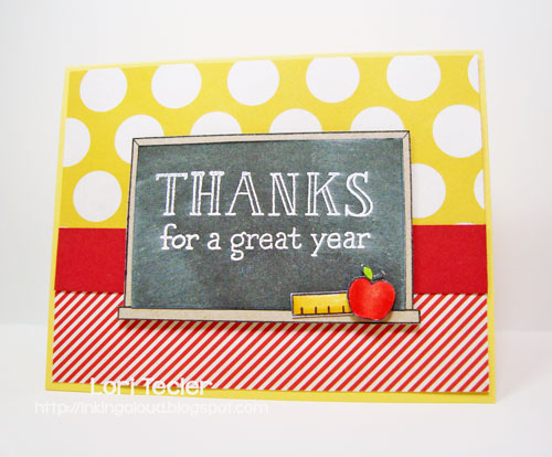 Thanks for a Great Year card-designed by Lori Tecler/Inking Aloud-stamps from Lawn Fawn
