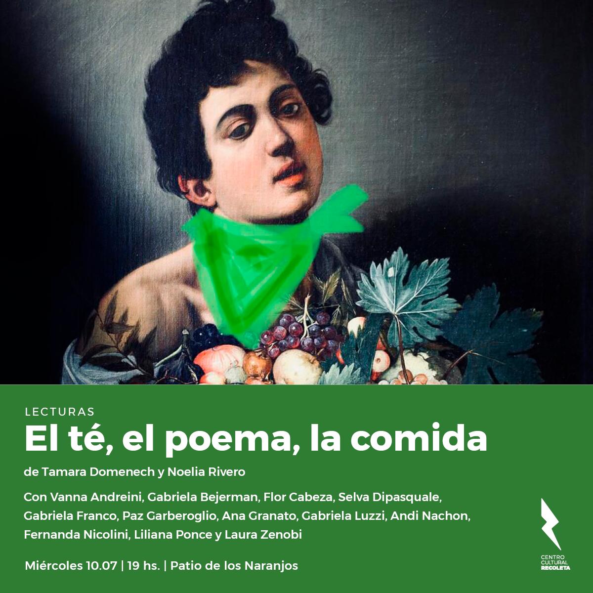 El té, el poema, la comida. Centro Cultural Recoleta. 2019.