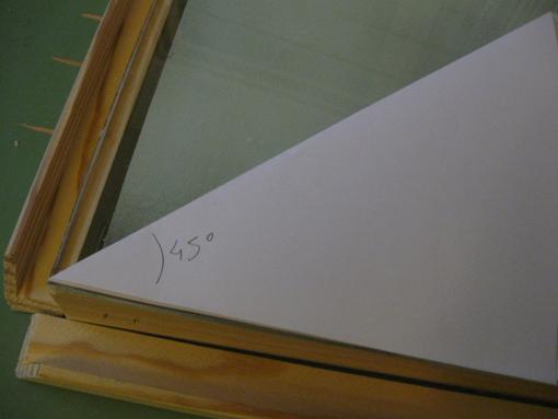 Le blog de chane tutorial cr er sa table lumineuse pour les nuls - Comment couper un angle a 45 degres ...
