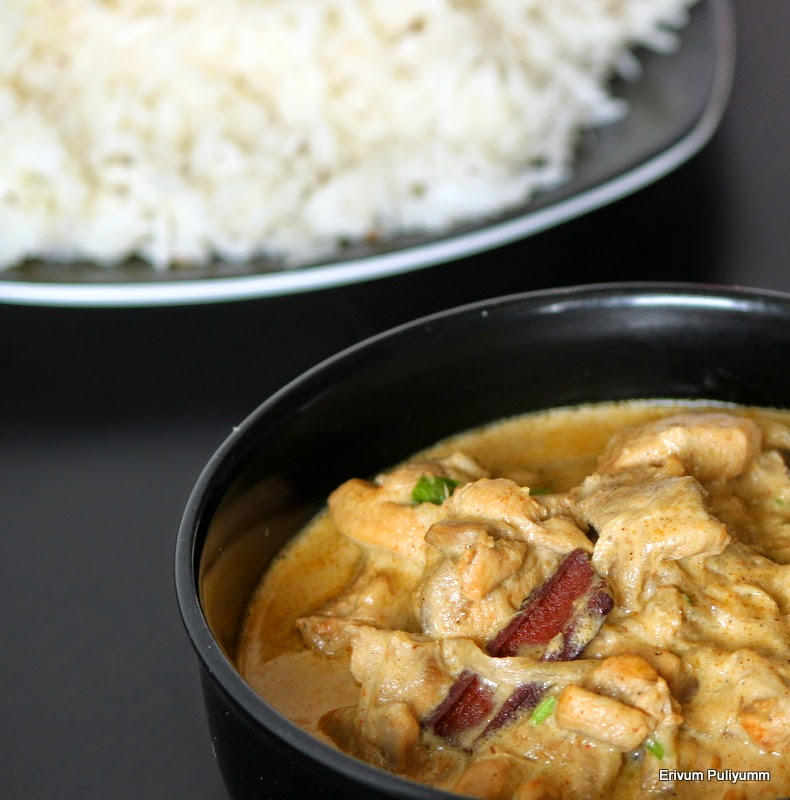 Simple badami chicken ~ chicken in almond sauce - Cook and Post