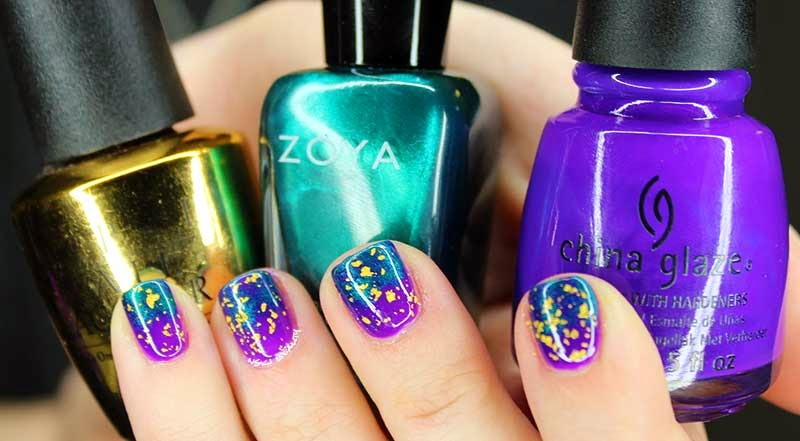 Mani Tuesday? :: Mardi Gras Nails ft: China Glaze, Zoya & OPI | Nski ...