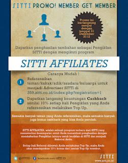 PROMO SITTI AFFLIATES IKLAN INDONESIA