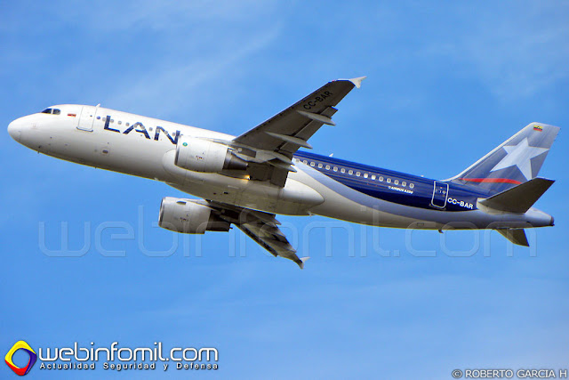 LAN Colombia Airbus A320 CC-BAR