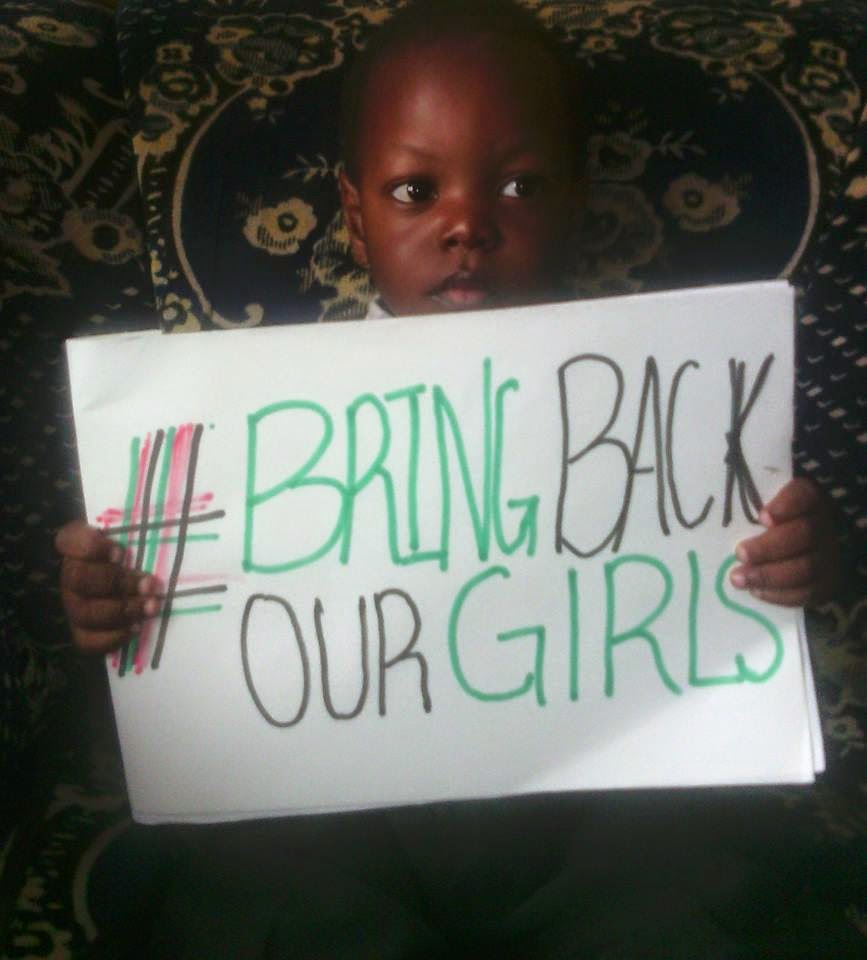 Nigerian child wants us to Bring Back Our Girls