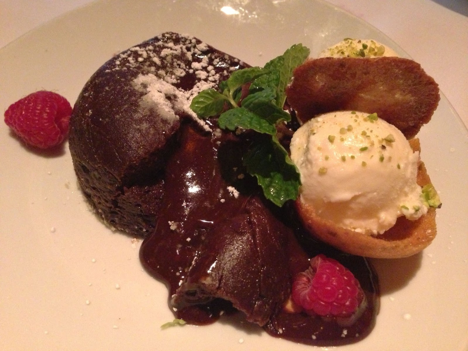Wine Pairing With Chocolate Lava Cake