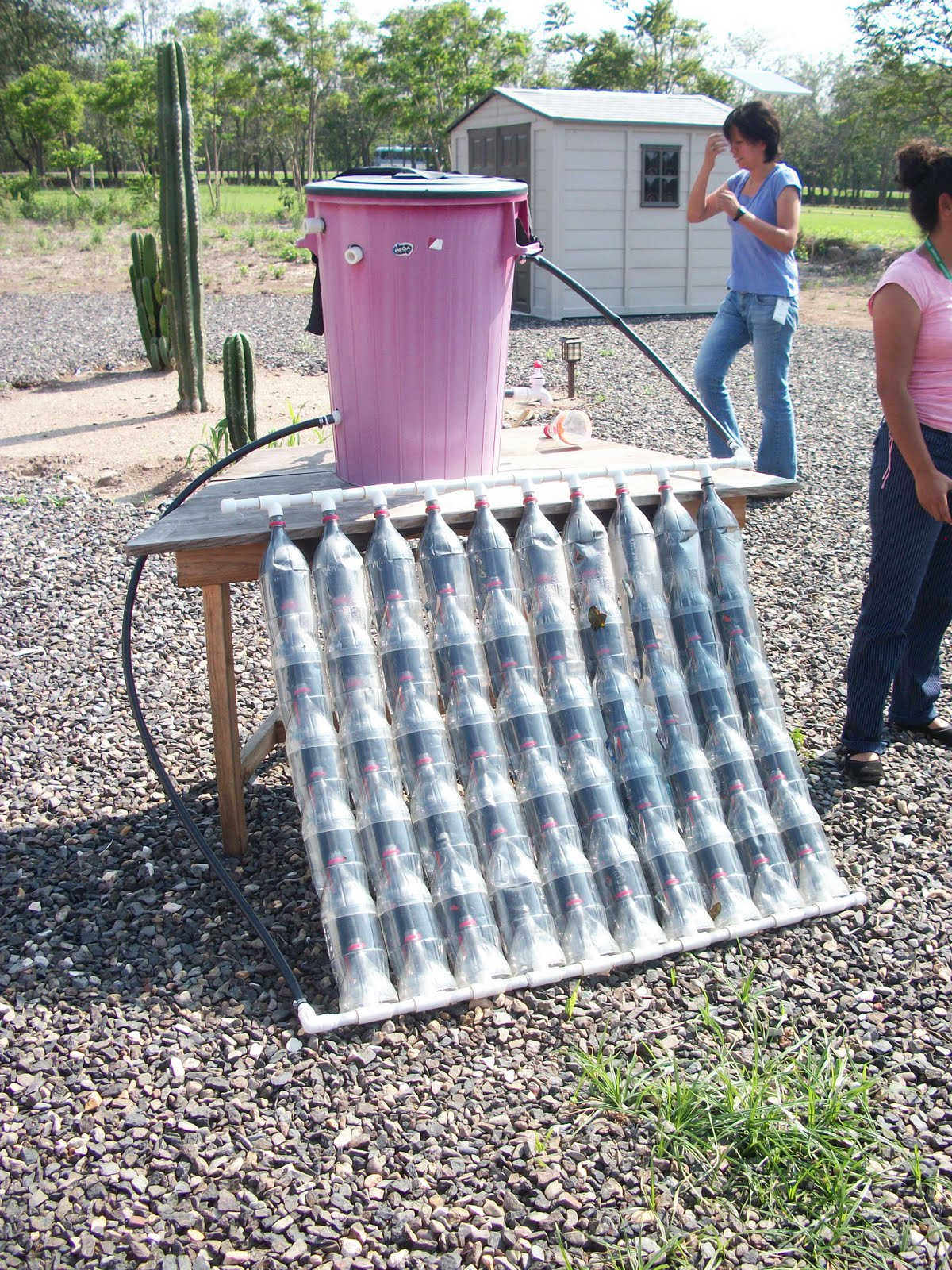 Vaya pues renewable energy workshop for Coke can heater