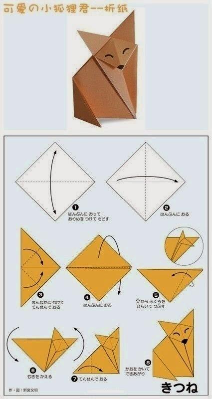 Ondeugende Spruit Vos Origami DIY