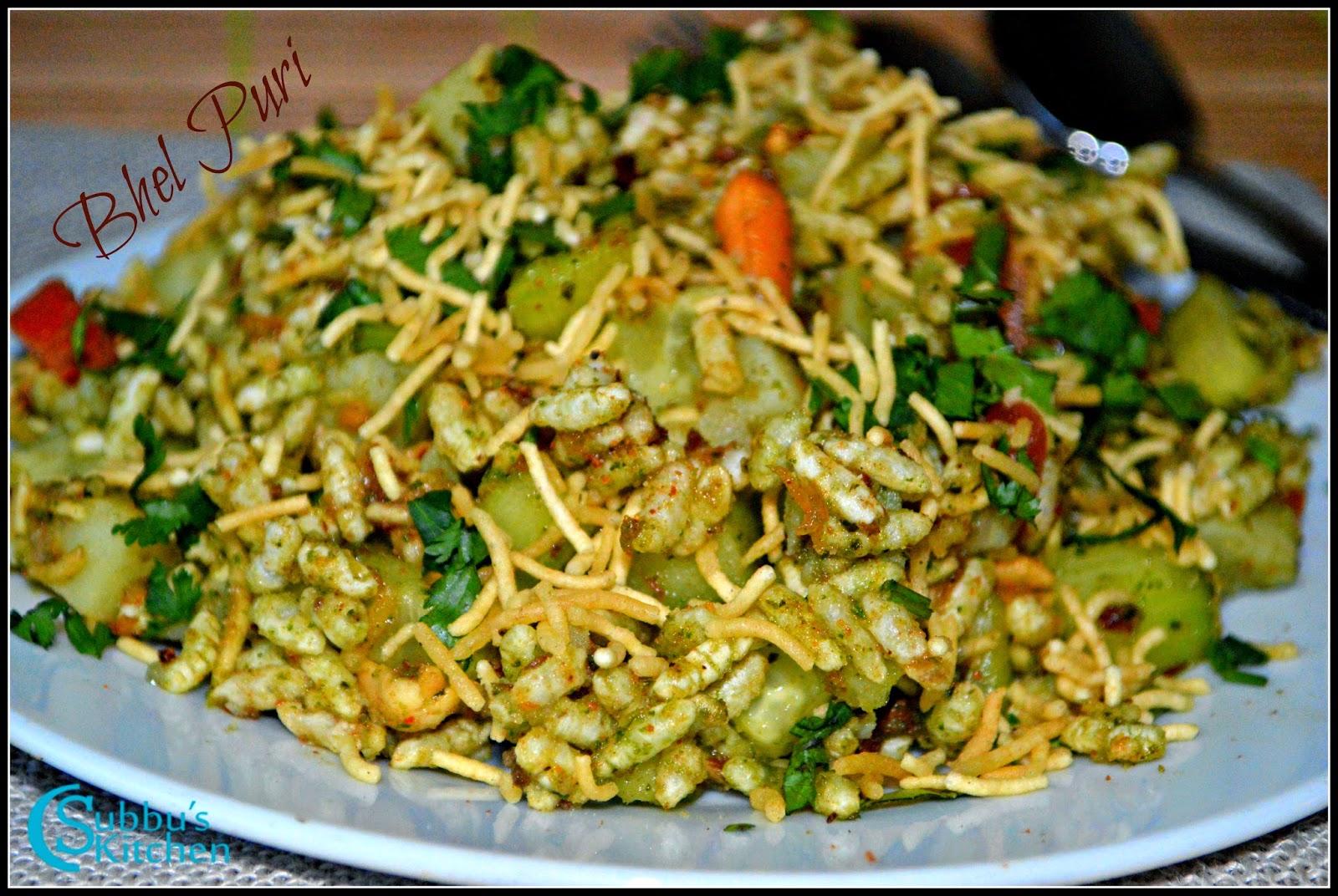 Bhel Puri (Bhelpuri) Recipe