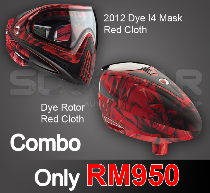 Dye rotor red cloth
