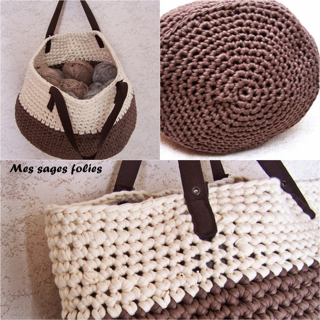sac en maille serrée/single crochetd bag