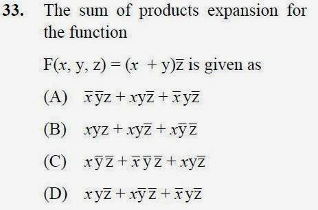 2013 December UGC NET in Computer Science and Applications, Paper II, Question 33