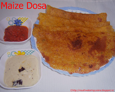 Maize Flour Dosa