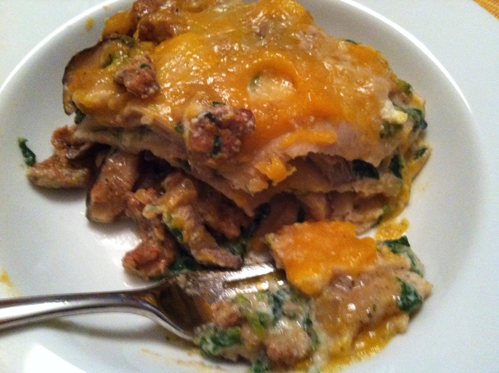 ... : Butternut Squash Lasagna with Sausage, Mushrooms and Broccoli Rabe