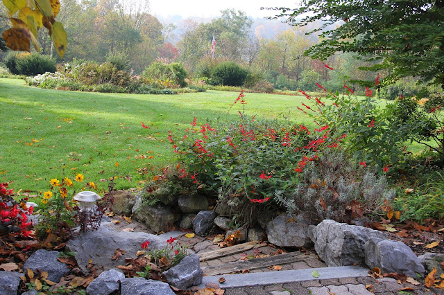 The beautiful gardens at Swiss Woods Bed & Breakfast Inn, Lititz, PA