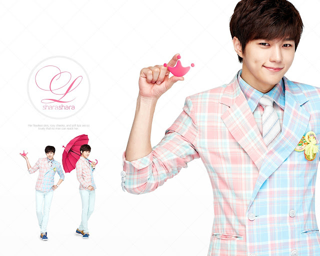 Image of Infinite L (Myungsoo) for make-up brand, Shara Shara