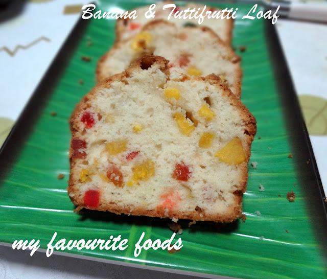 Banana & Tuttufruti Loaf