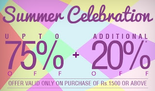 Jabong Summer Celebrations : Get additional 20% Discount on already upto 70% Discounted Products
