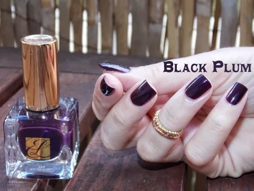 black plum estée lauder, black plum vernis, black plum polish