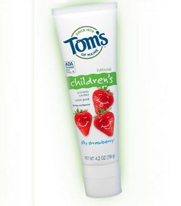 Amostra Gratis Creme Dental Infantil Tom's Maine sabor Morango