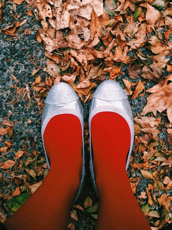 Fall Leaves and Sparkly Shoes