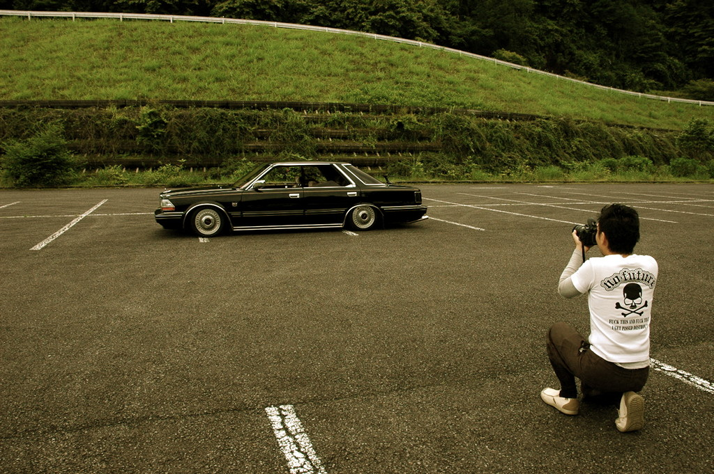 Nissan Gloria Y30 stary japoński samochód, sedan, klasyk