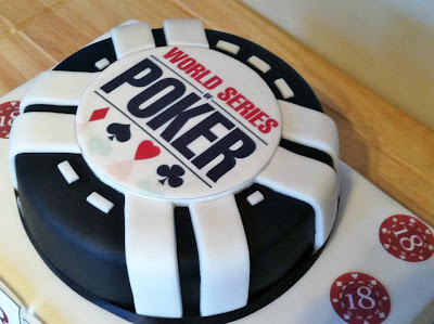 world series poker theme birthday cake