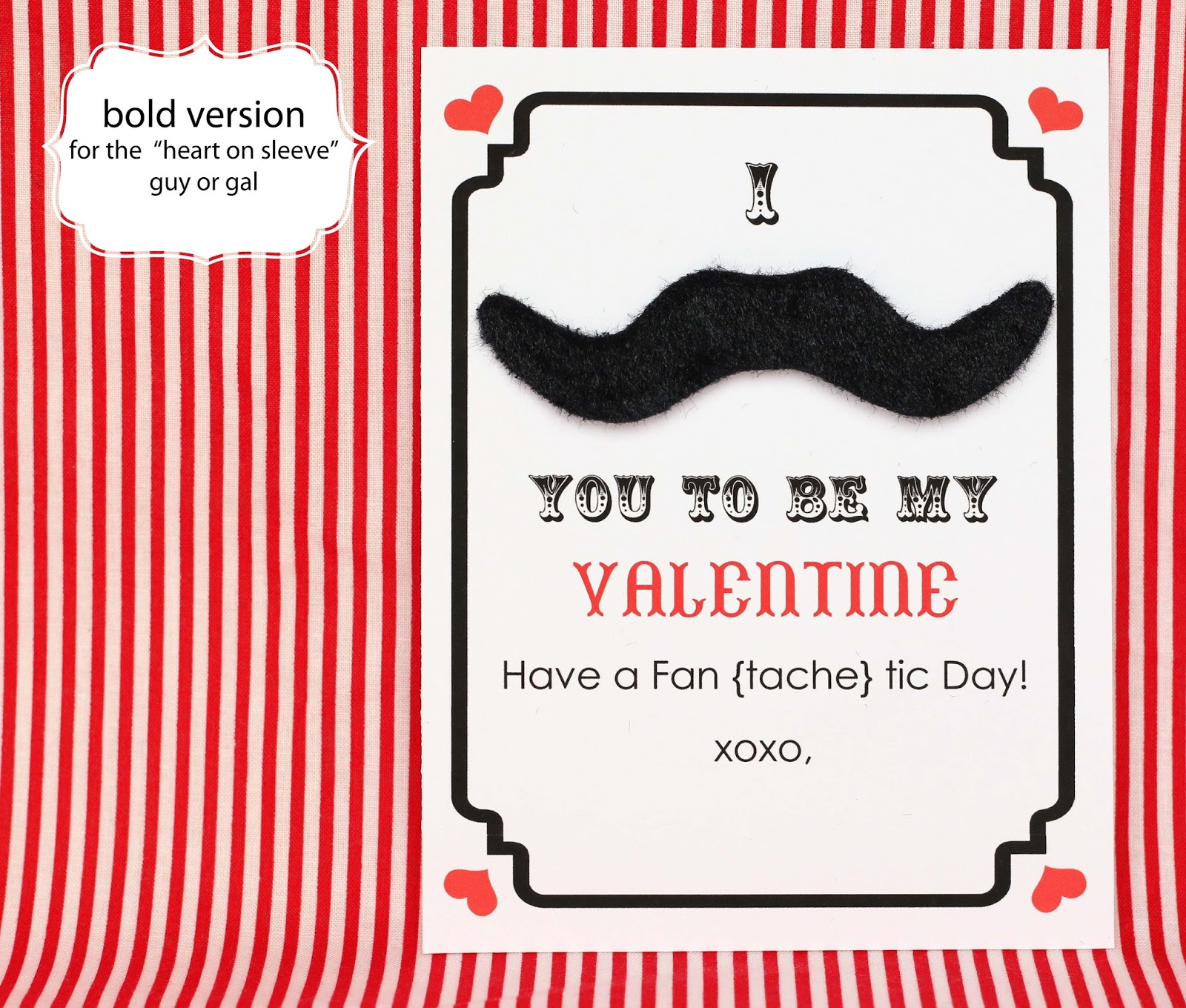 Make Mustache Valentines Day Cards Free Printable – Free Valentine Printable Cards