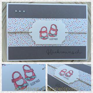 Karte zur Geburt Designerpapier Süße Kleinigkeiten