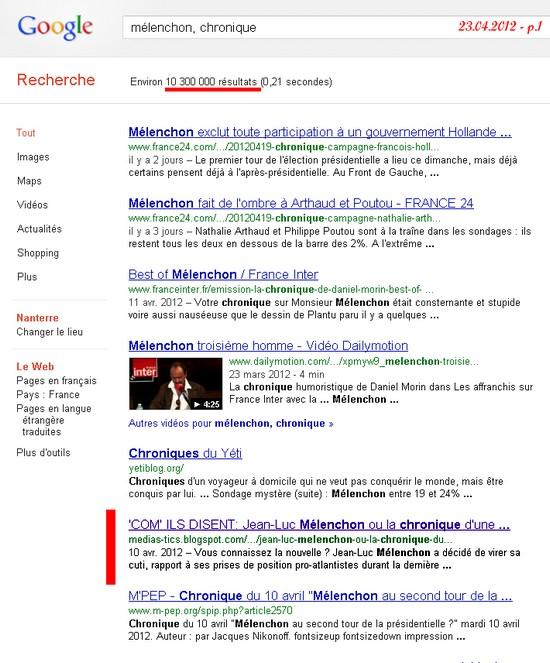 google_melenchon_deconfiture_front_de_gauche_echec_election_presidentielle_2012_communiste_tribun_demagogue_le_pen_front_national_segolene_royal