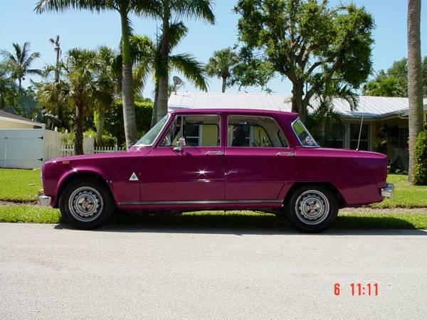 alfa romeo giulia super 1 3 original paint purple. Black Bedroom Furniture Sets. Home Design Ideas