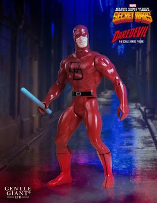 "Marvel's Secret Wars Daredevil 12"" Jumbo Vintage Action Figure by Gentle Giant"