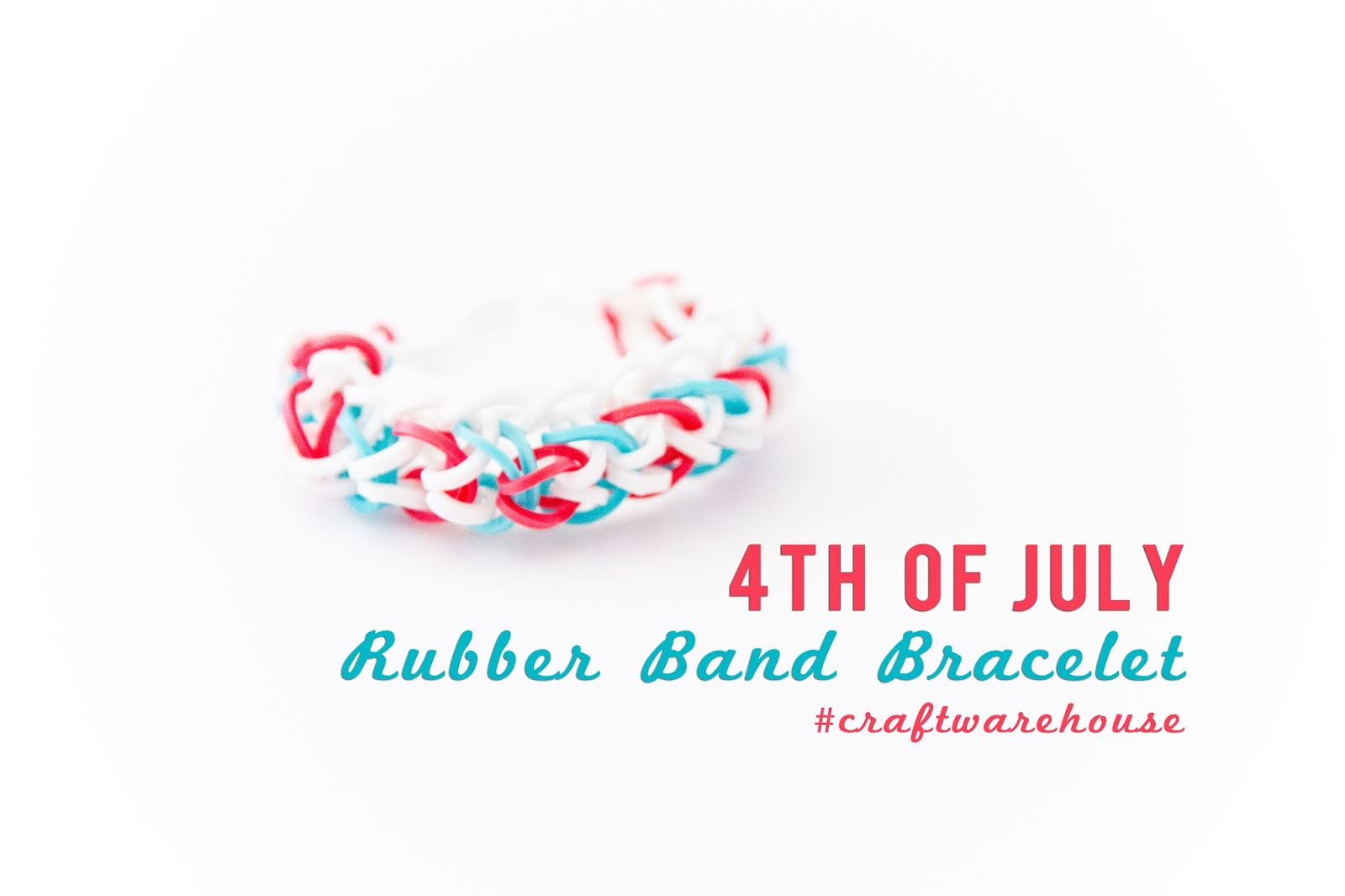 4th of July Rubber Band Bracelet by @createoften for @craftsavvy #craftwarehouse #loombands #rubberbandbracelets