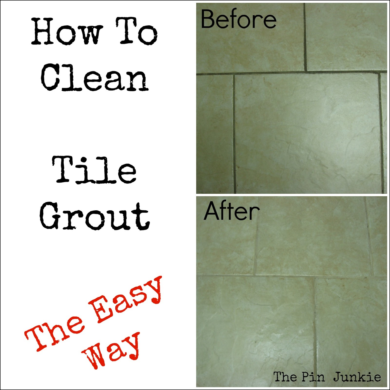 How To Clean Bathroom Tile: The Pin Junkie: Blog Updates