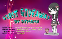 First Giveaway by Denana