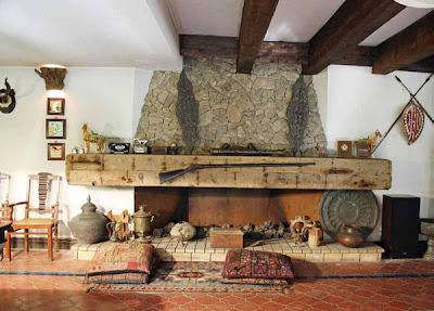 sala chimenea piedra