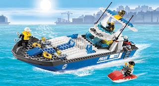 Lego City Police Boat #7287