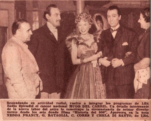 Hugo del Carril, Nedda Francy, Bataglia, Cores, Chela di Santo 1948