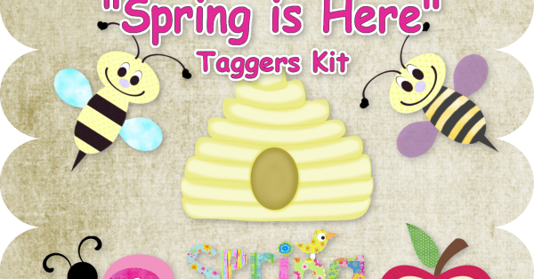 Digi Scrappers Freebies Quot Spring Is Here Quot Taggers Kit Freebie