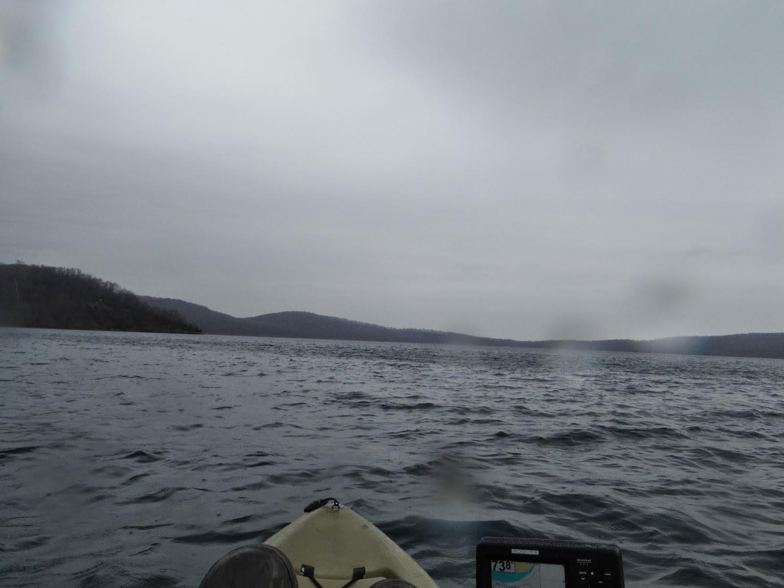 Long island kayak angler ice out kayak fishing for lake trout for Freshwater fishing long island