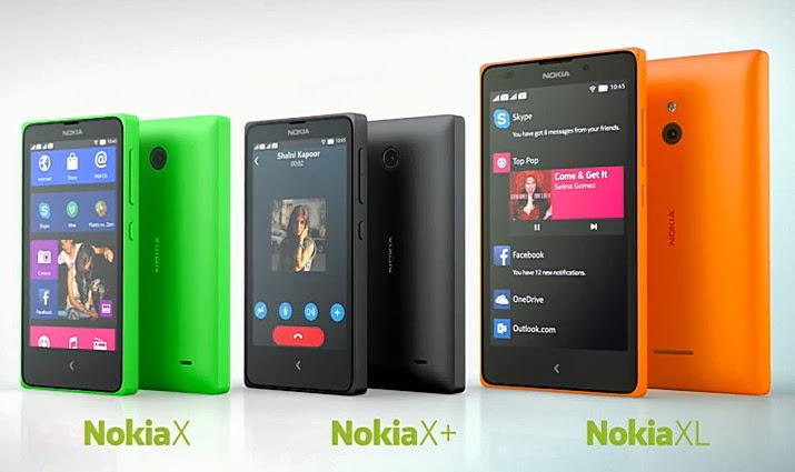 Nokia X X+ XL, Nokia Android Smartphones