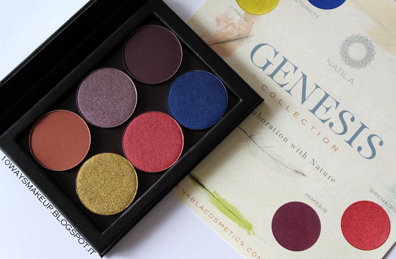 Nabla Cosmetics Genesis collezione swatch